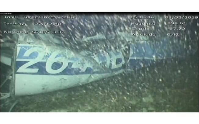 Destroços do avião de Emiliano Sala