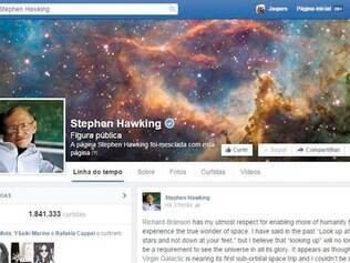 """Na página do físico, posts fascinam internautas: """"Algumas pessoas dizem que eu mesmo sou um alien"""""""