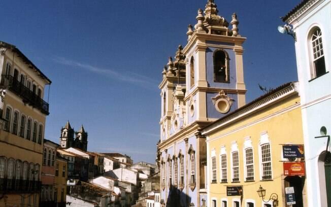 Pelourinho, em Salvador: palco de intensa vida cultural com seus casarões históricos e igrejas barrocas