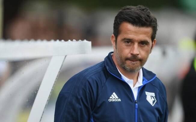 O treinador português Marco Silva, alvo do protesto, nos tempos de Watford