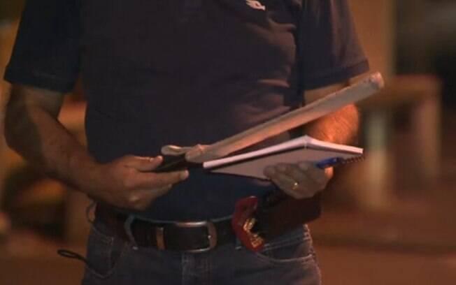 Facão de 50cm foi utilizado por motorista de ônibus durante ataque de fúria