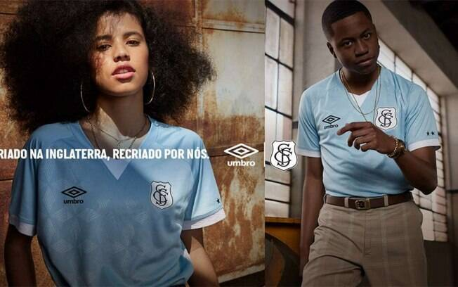 Santos lança terceiro uniforme com escudo retrô