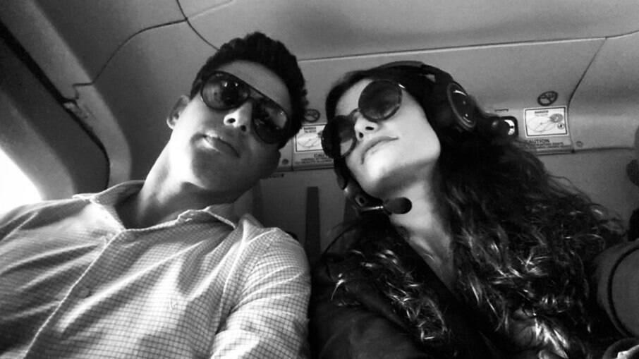 Alinne postou foto ao lado do ex nas gravações da próxima novela das 21h