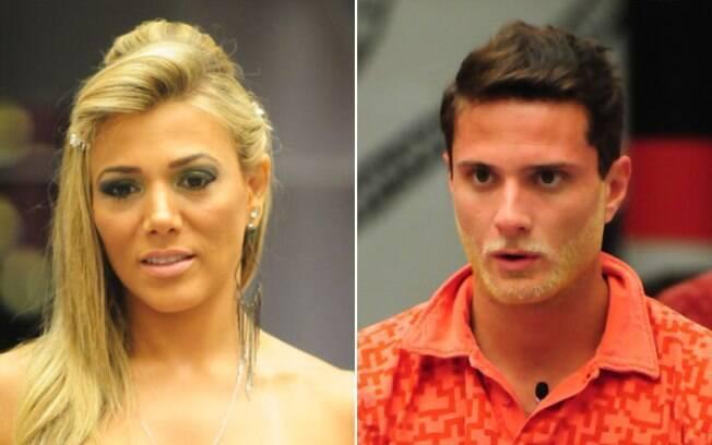 Fabiana e Ronaldo estão pela primeira vez no Paredão