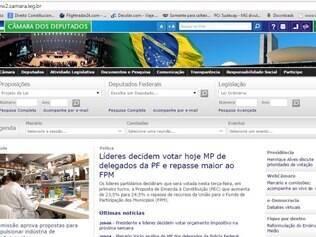 Passo 1: Acesse o site da Câmara, pelo endereço: www.camara.gov.br