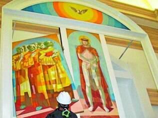 Telas. Processo de restauração das telas de Portinari em igreja de Batatais ainda está em curso