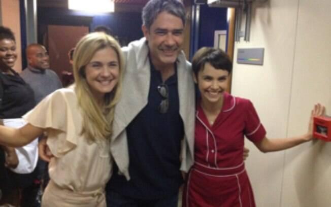 William Bonner não resistiu e publicou em seu Twitter fotos com Adriana Esteves, Débora Falabella ....