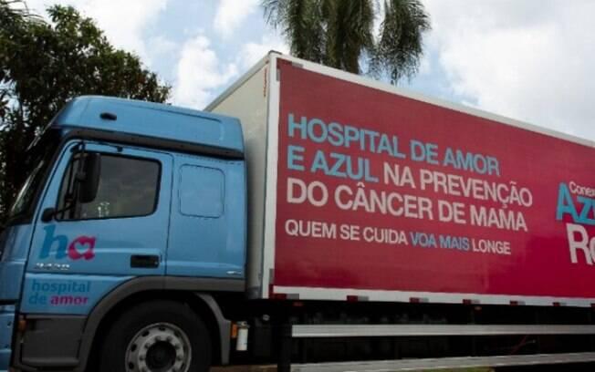 Carreta do Hospital de Amor faz mamografias na Estação Cultura