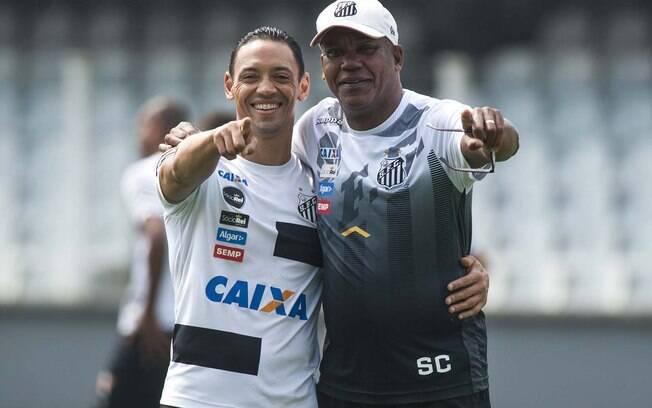 Serginho Chulapa ao lado de Ricardo Oliveira