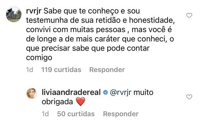 Ex-marido de Livia Andrade sai em defesa da apresentadora após polêmica