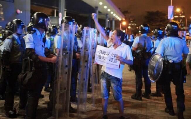 As ruas de Hong Kong ficaram repletas de manifestantes contrários à nova lei de extradição
