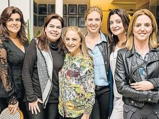 Grupo unido: Katia Geo, Eliane Vasconcellos, Vitoria Faria, Silvana Simões, Claudia Alckmin, Maria Amália Laborne