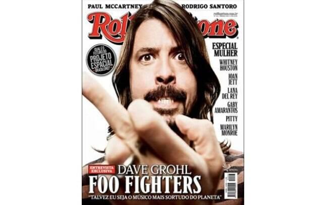 Dave Grohl na capa da revista Rolling Stones
