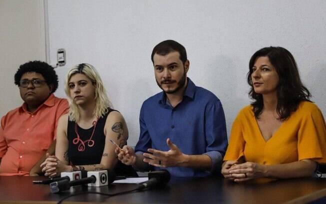 O presidente do PSOL, Juliano Medeiros, durante coletiva de imprensa nesta quarta-feira
