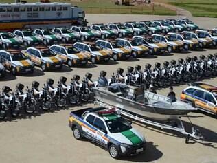 As 80 viaturas que serão destinadas a 34 municípios mineiros