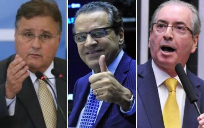 Geddel Vieira Lima, Henrique Eduardo Alves e Eduardo Cunha são alvos de ações civis