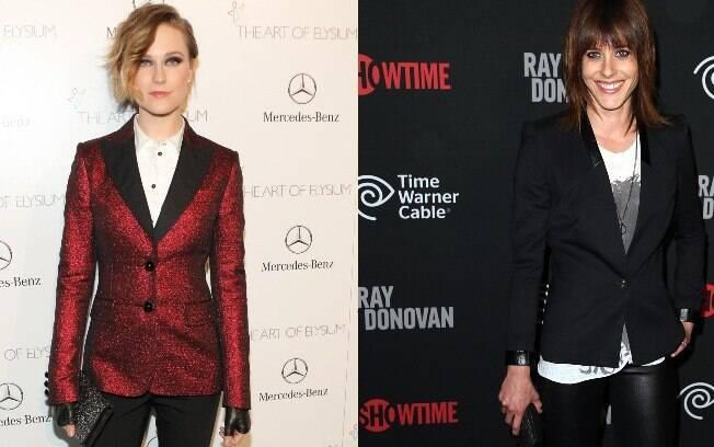 De acordo com o site E! News, as atrizes Evan Rachel Wood (esq.) e Katherine Moennig (dir.) estão namorando há cerca de 2 meses