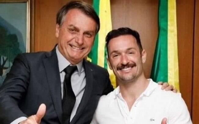 Jair Bolsonaro e Diego Hypólito