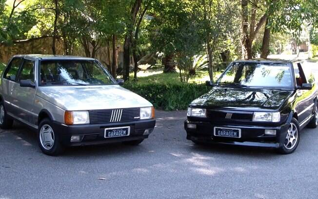 Fiat Uno 1.5R à esquerda e o Turbo à direita. Se tivesse que escolher um, qual seria?