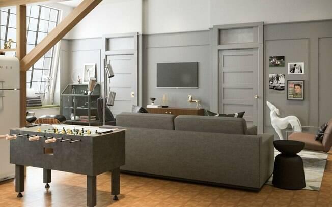 O apartamento de Joey, em que Chandler e Rachel já viveram, também ganhou uma decoração mais 'clean'