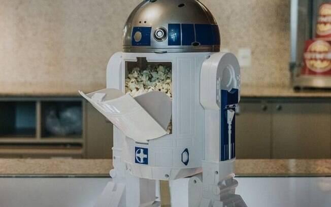 robô de pipoca cinemark
