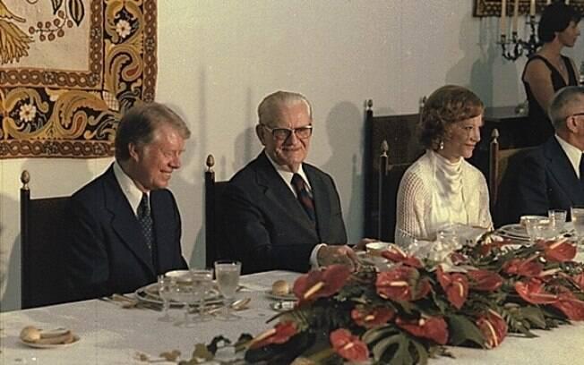 Ernesto Geisel em jantar oferecido ao Presidente dos Estados Unidos Jimmy Carter, em 29 de março de 1978