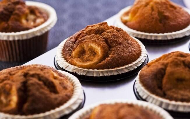 Foto da receita Cupcake de banana pronta.
