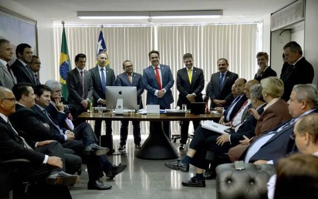 Reunião da executiva nacional do PP em que foi definido o desembarque do governo