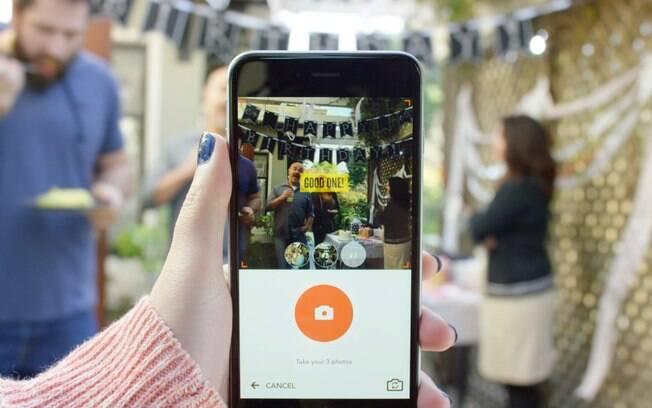 Com três fotos tiradas em sequência, Nutshell combina criar vídeos com textos e efeitos. Aplicativo é gratuito e apenas para iOS