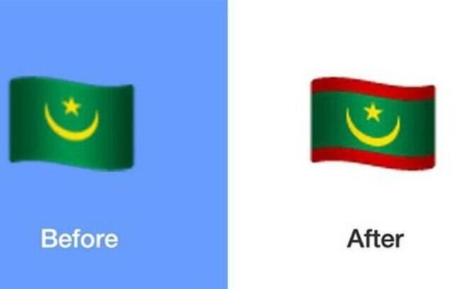 Nova bandeira da Mauritânia está entre os emojis da atualização do WhatsApp para Android