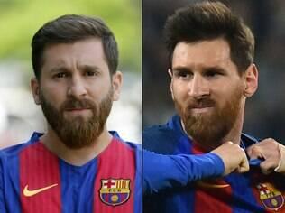 Reza Parastesh e o verdadeiro Messi: semelhança impressionante