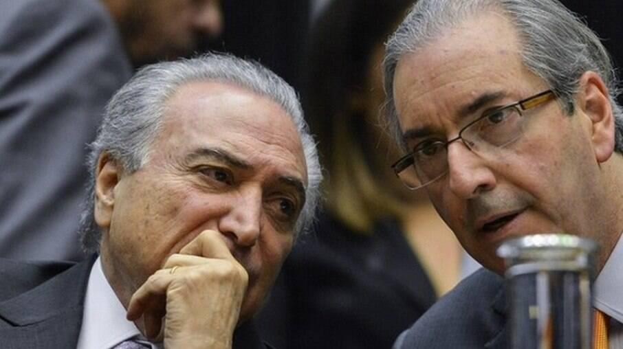 Ex-presidente Michel Temer e ex-deputado Eduardo Cunha