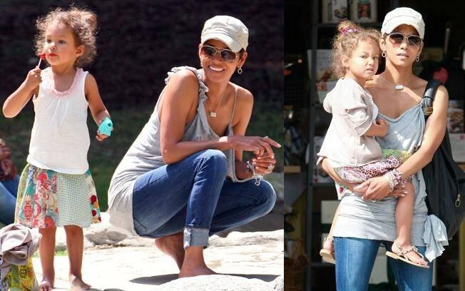 Halle Berry e a filha Nahla