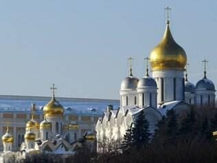 O Kremlin foi construído sobre a colina de Borovitski