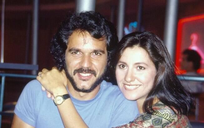 Humberto Martins e Cássia Kiss nos bastidores de