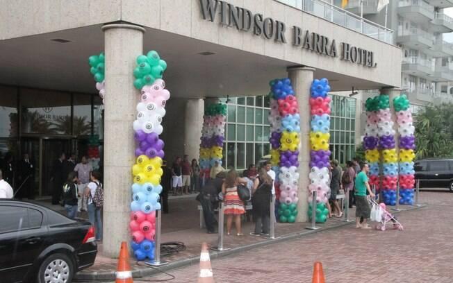 Hotel decorado para a saída dos participantes do BBB12
