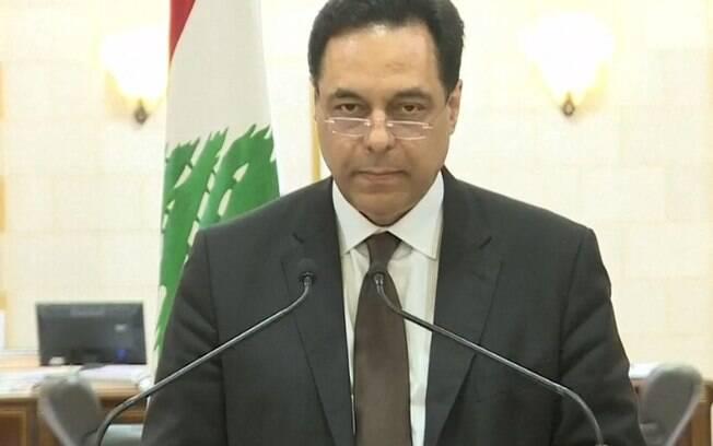 Hassan Diab anunciou a dissolução de seu gabinete.