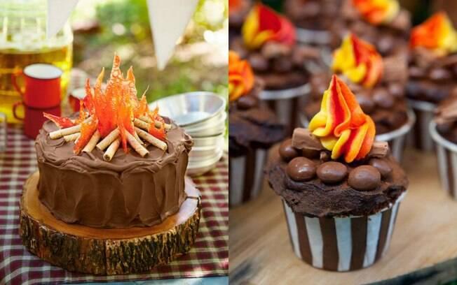 Para quem gosta de chocolate, esta é a opção perfeita para uma festa cuja a decoração é a tradicional Festa Junina