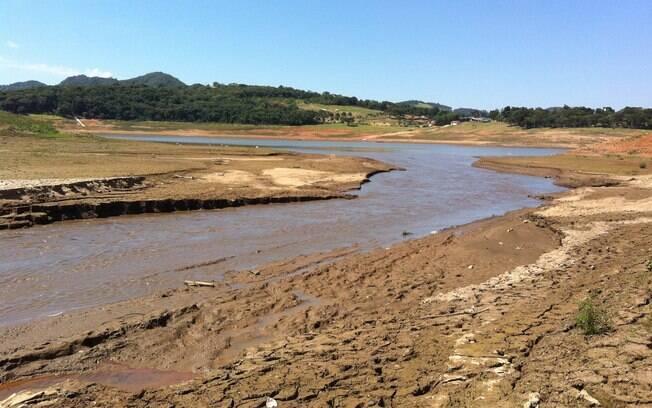 Represa do Jaguari, na cidade de Vargem, em foto de setembro
