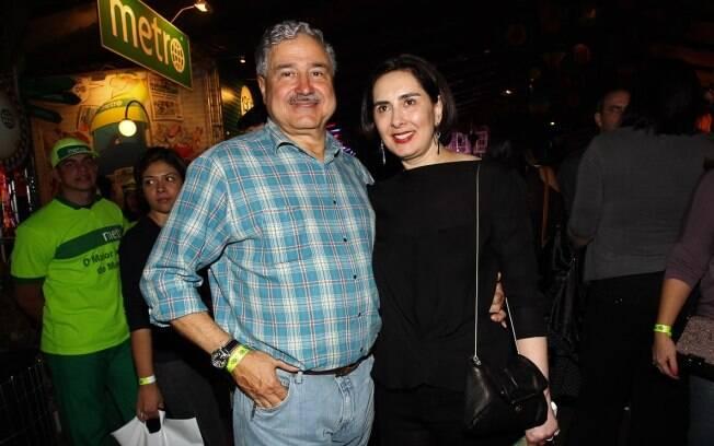 Johnny Saad e a mulher, Claudia Saad