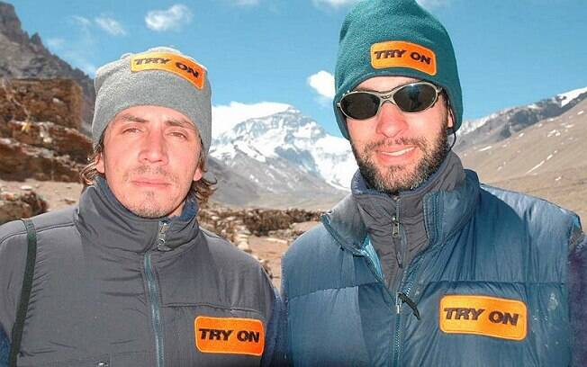 Vitor Negrete e Rodrigo Raineri, na expedição do Everest de 2005
