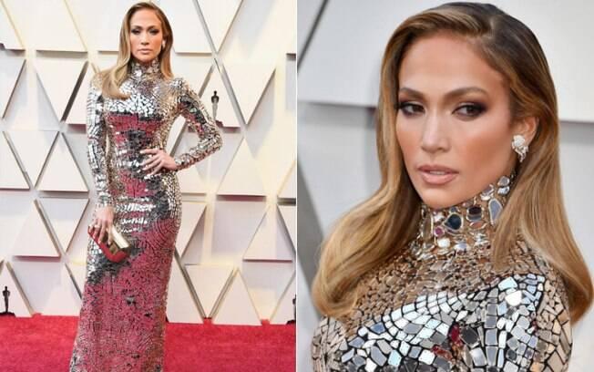 Looks das famosas: Jennifer Lopez usou um vestido Tom Ford e literalmente brilhou no tapete vermelho do Oscar 2019