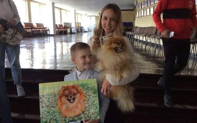 Pavel e uma de suas pinturas