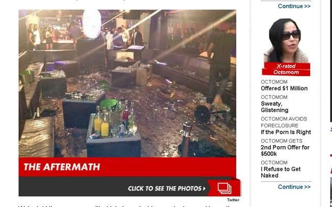 Imagem da casa noturna após a briga entre Chris Brown e o rapper Drake