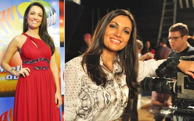 Âncora do telejornal, Patrícia deixa de lado os cabelos longos e a maquiagem forte