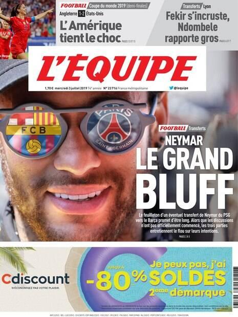 Neymar, o grande blefe
