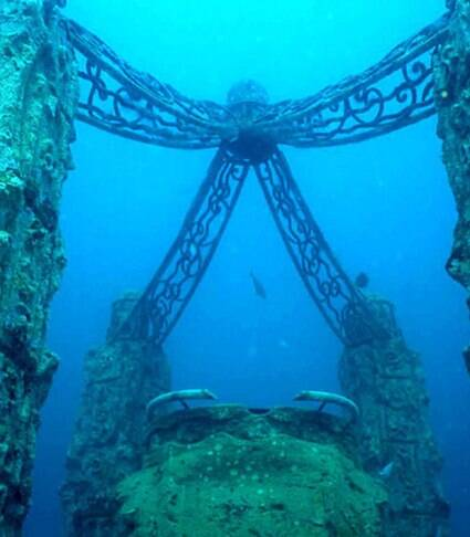 7 pontos turísticos debaixo d'água