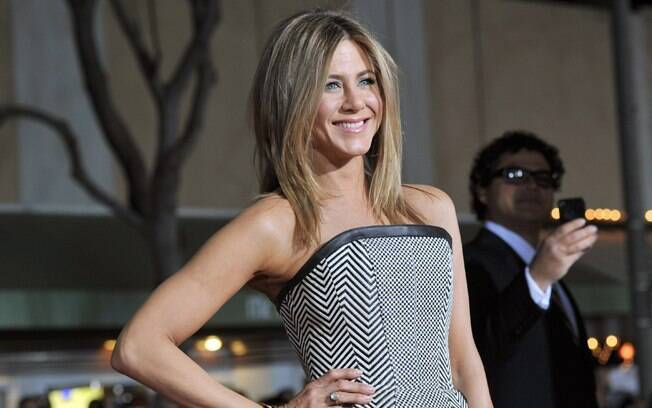 Jennifer Aniston causou tumulto ao chegar para a première do filme