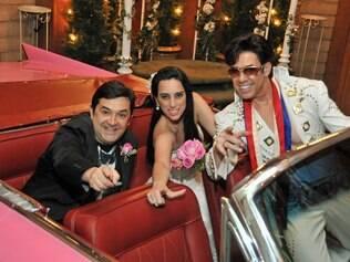 Paola e Kaká viajaram a Las Vegas e renovaram os votos ao estilo local, com um Elvis Presley cover