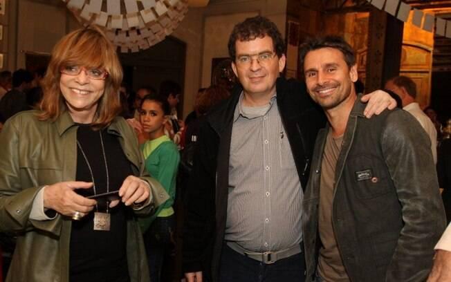 Glória Perez, Marcos Schechtman e Murilo Rosa no workshop da novela